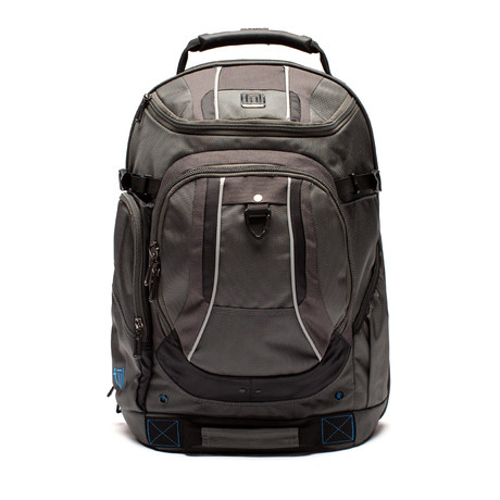 Load Factor Padded Laptop Backpack // Black + Gray