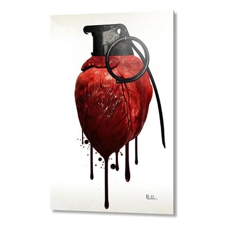 Heart Grenade // Aluminum Print