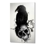 "Raven and Skull // Aluminum Print (16""W x 24""H x 1.5""D)"