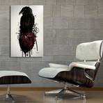 "Raven and Heart Grenade //Aluminum Print (16""W x 24""H x 1.5""D)"
