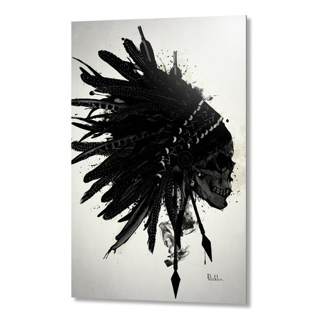 "Warbonnet Skull // Aluminum Print (16""W x 24""H x 1.5""D)"