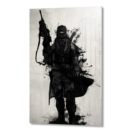 "Post Apocalyptic Warrior // Aluminum Print (16""W x 24""H x 1.5""D)"