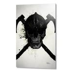 """Viking Skull // Aluminum Print (16""""W x 24""""H x 1.5""""D)"""