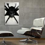 "Samurai Skull // Aluminum Print (16""W x 24""H x 1.5""D)"