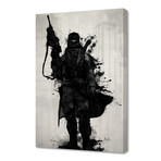 "Post Apocalyptic Warrior // Stretched Canvas (16""W x 24""H x 1.5""D)"