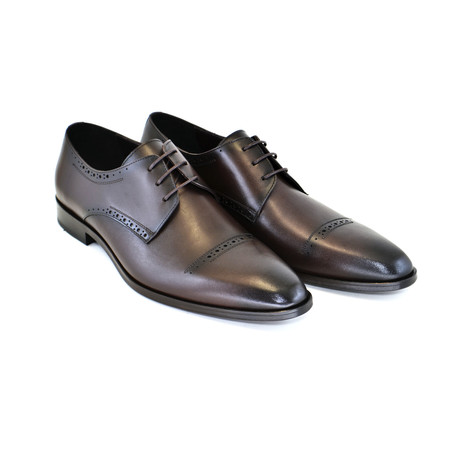 Cap Toe Design Lace Up // Brown (US: 7)