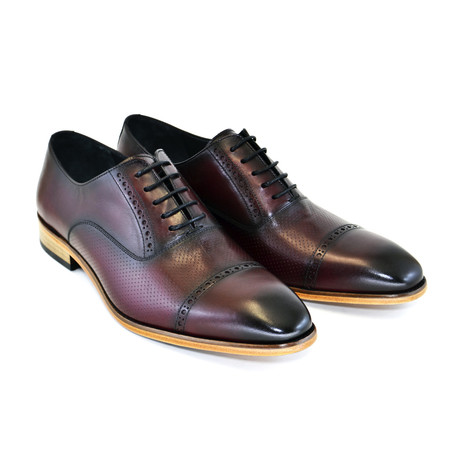 Cap Toe Lace Up // Burgundy (US: 7)