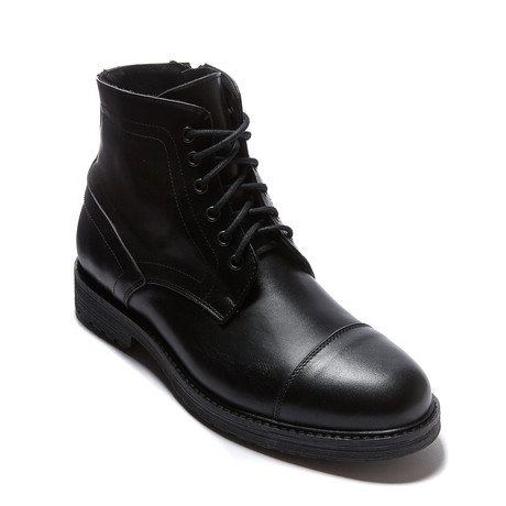 Toe Cap Derby Ankle Boot // Black (Euro: 46)