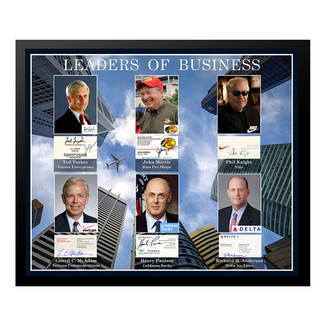 Signed + Framed Card Collage // Leaders of Business
