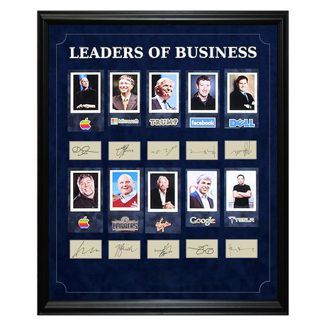 Signed + Framed Signature Collage // Leaders of Business