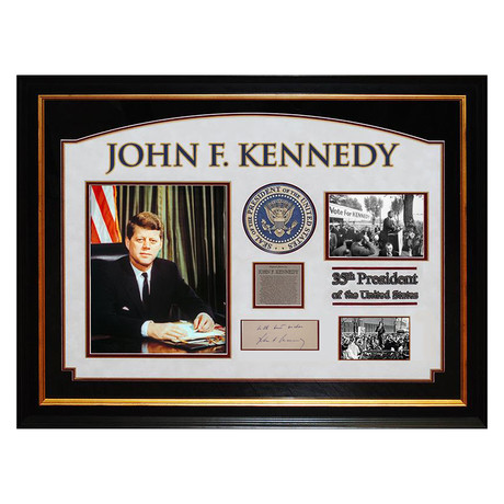 Signed + Framed Signature Collage // John F. Kennedy