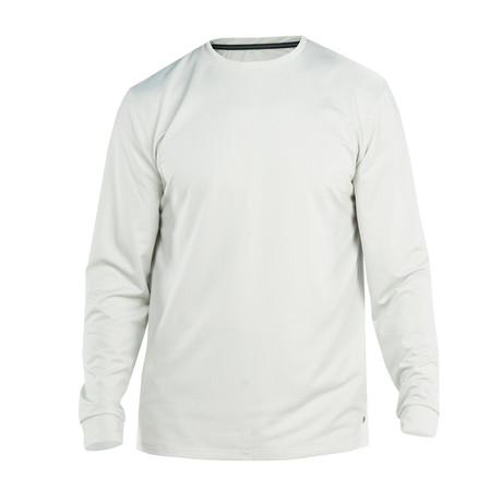 Breaker Air Long-Sleeve Crew Knit // Silver (S)