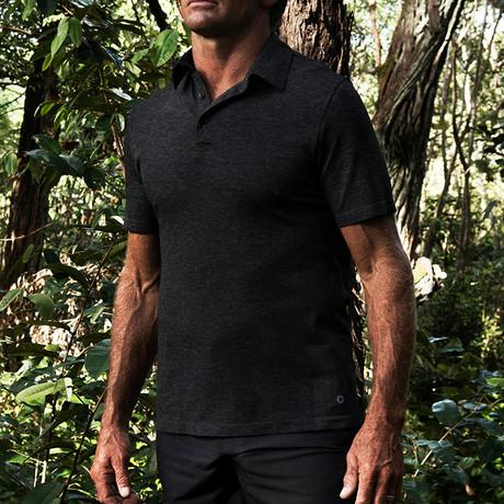 Ocean Polo Knit Short Sleeve // Black (XL)