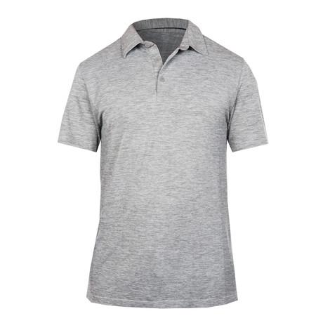 Ocean Polo Knit Short Sleeve // Silver (S)