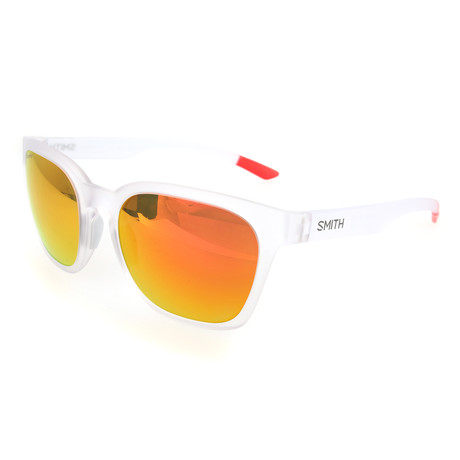 Unisex Founder Sunglasses // Crystal Clear + Red