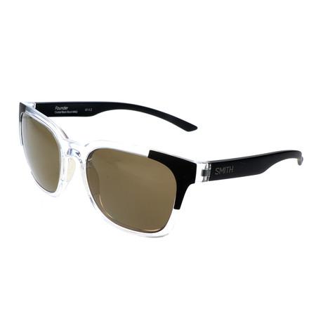 Smith // Unisex Founder Polarized Sunglasses // Crystal Black