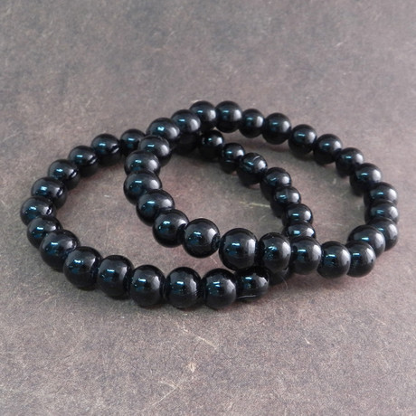 Glass Bead Bracelet // Black