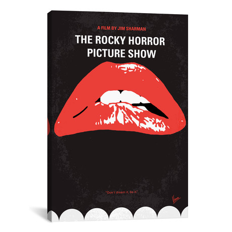 """The Rocky Horror Picture Show Minimal Movie Poster // Chungkong (26""""W x 40""""H x 1.5""""D)"""