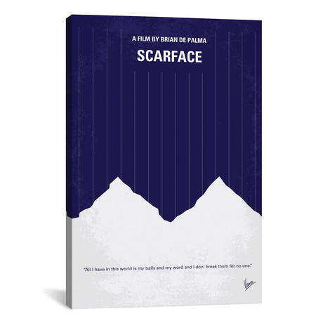 "Scarface (18""W x 26""H x 0.75""D)"