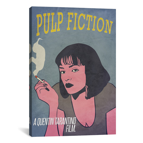 "Pulp Fiction // Alternative Poster (18""W x 26""H x 0.75""D)"