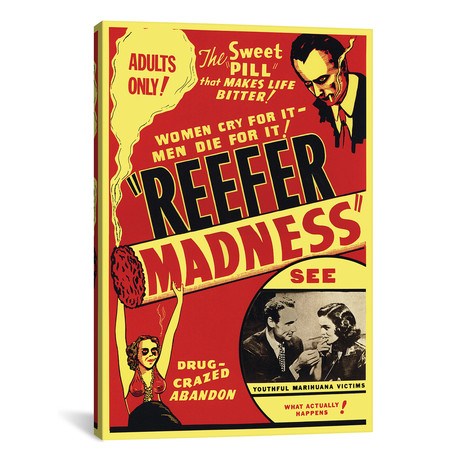 "Reefer Madness Film Poster // Radio Days (18""W x 26""H x 0.75""D)"