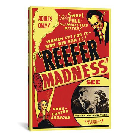"Reefer Madness Film Poster // Radio Days (12""W x 18""H x 0.75""D)"