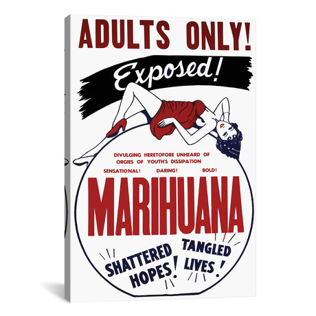 "Marihuana Film Poster I // Radio Days (12""W x 18""H x 0.75""D)"