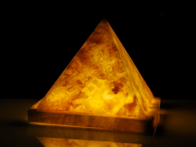 Photo of Ashlar Marble Lights + Sculptures Pyramid Led by Touch Of Modern