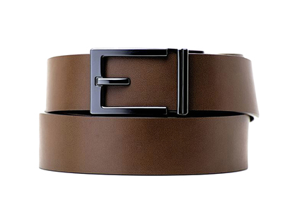 Photo of Kore Essentials Trackline Ratchet Belts Gunmetal Express // Brown by Touch Of Modern