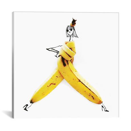 "Banana // Gretchen Roehrs (18""W x 18""H x 0.75""D)"