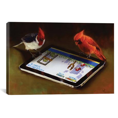"""Angry Birds // Lucia Heffernan (18""""W x 26""""H x 0.75""""D)"""