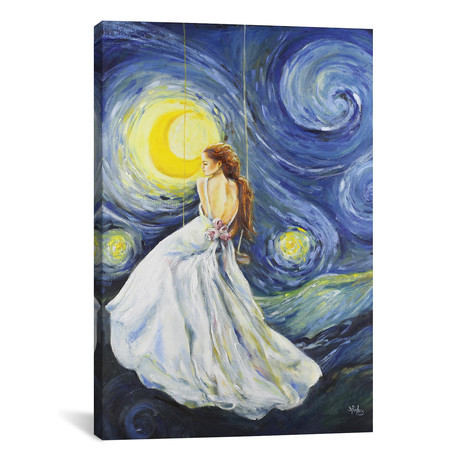 """My Starry Night by Sara Riches (18""""W x 26""""H x 0.75""""D)"""