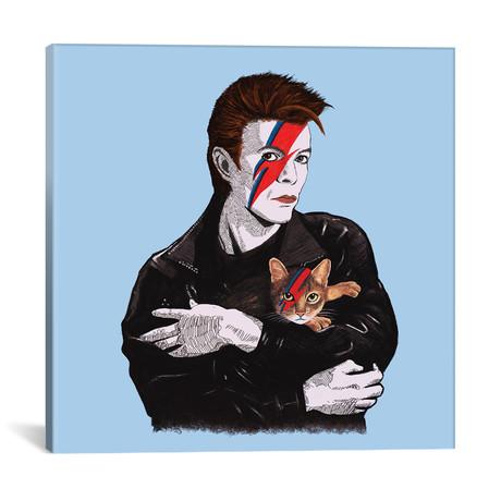 """David & The Cat // Tummeow (18""""W x 18""""H x 0.75""""D)"""