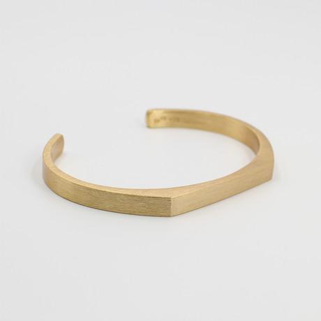 "Signet Cuff Bracelet // Gold (Small (5""-6.75""))"