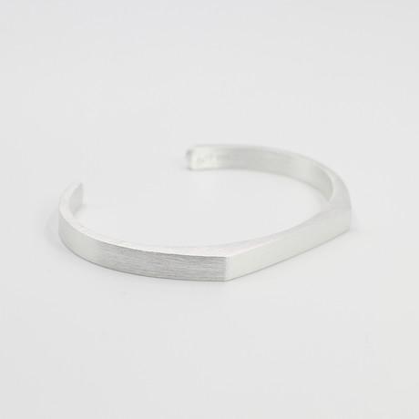 "Signet Cuff Bracelet // Silver (Small (5""-6.75""))"