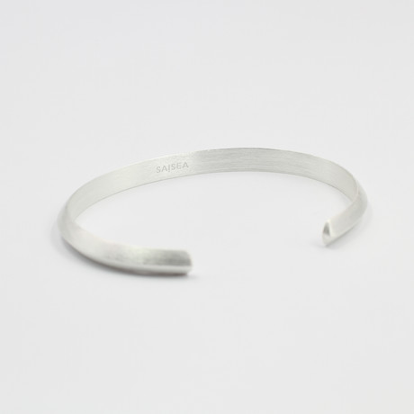 "Triangle Cuff Bracelet // Silver (Small (5""-6.75""))"