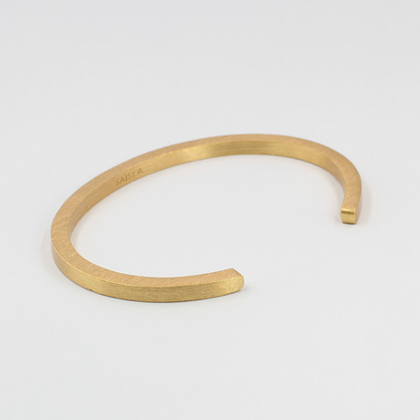 "Square Cuff Bracelet // Gold (Small (5""-6.75""))"