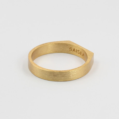 Signet Ring // Gold (Size 5)