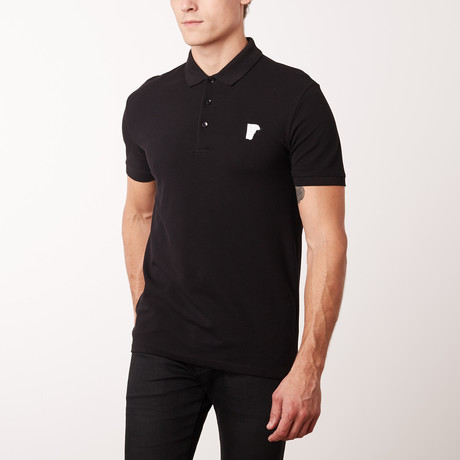 Mini Logo Polo Shirt // Black (S)