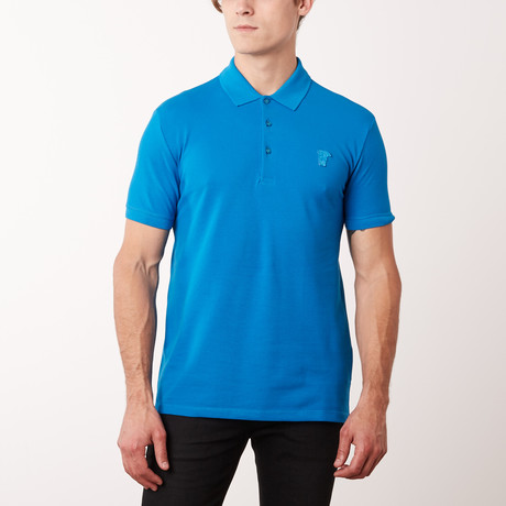 Mini Logo Polo Shirt // Surf (S)