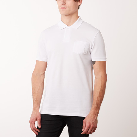 Versace Collection // Pocket Polo Shirt // White (S)