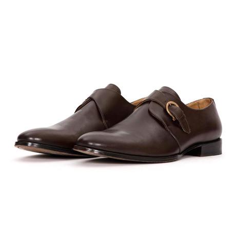 Single Buckle Monk Strap Dress Shoe // Brown (US: 7)