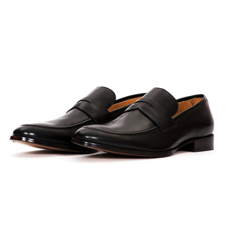 Rush Leather Slip On Penny Loafers // Black (US: 7)