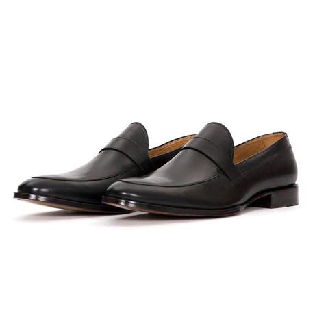 Flush Leather Formal Slip On Dress Shoes // Black (US: 7)