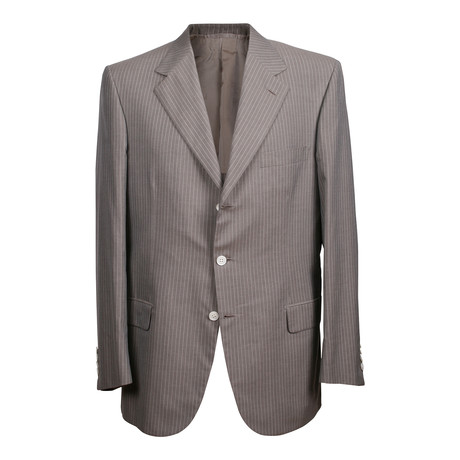 Rolling 3 Button Stripped Blazer // Gray (US: 36R)