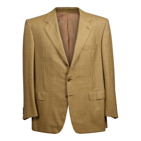 Rolling 3 Button Check Blazer // Mustard (US: 36S)