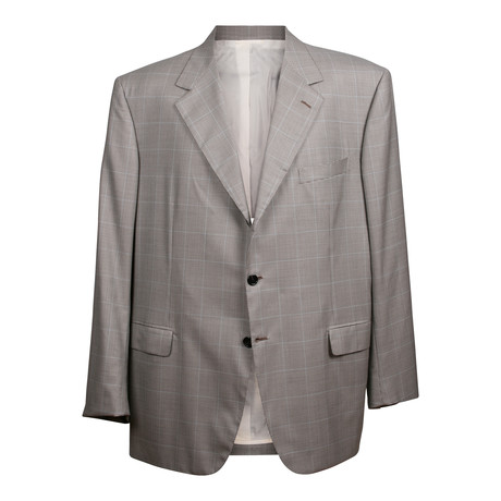 Rolling 3 Button Check Blazer // Gray (US: 36S)