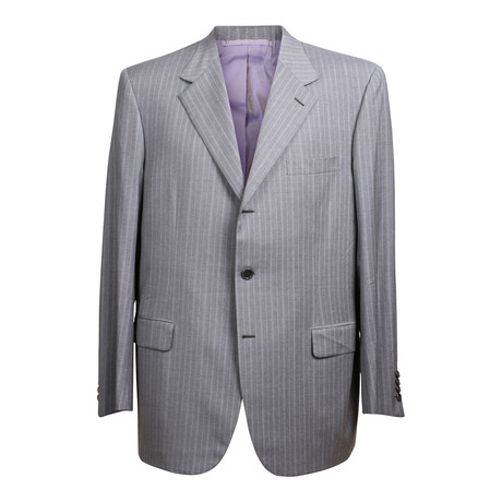 Striped 3 Rolling Button Suit // Gray (US: 36S)