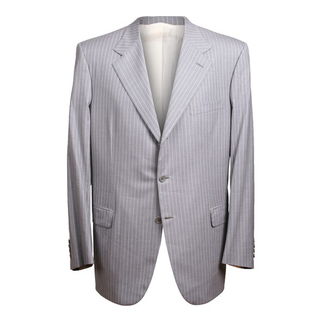 Super 150s Striped 3 Rolling Button Suit // Gray // BRS18 (US: 36S)