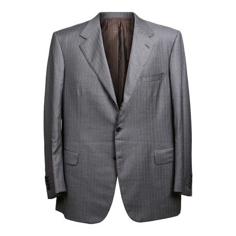 Super 150s Striped 3 Rolling Button Suit // Gray // BRS20 (US: 36S)